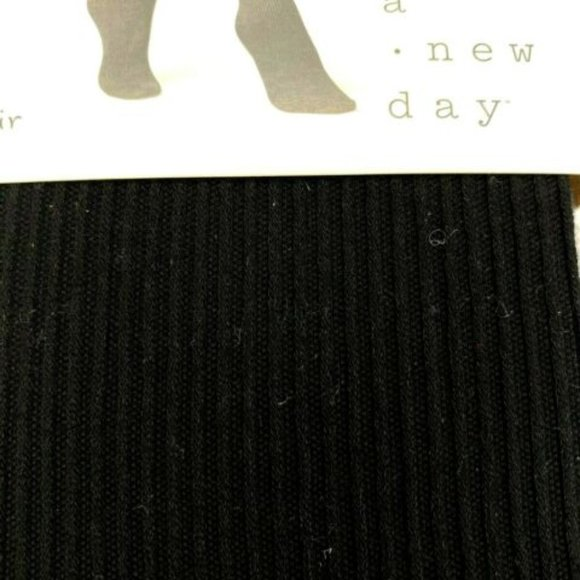 A New Day Accessories - A New Day Womens Ribbed Sweater Tights Black U-029